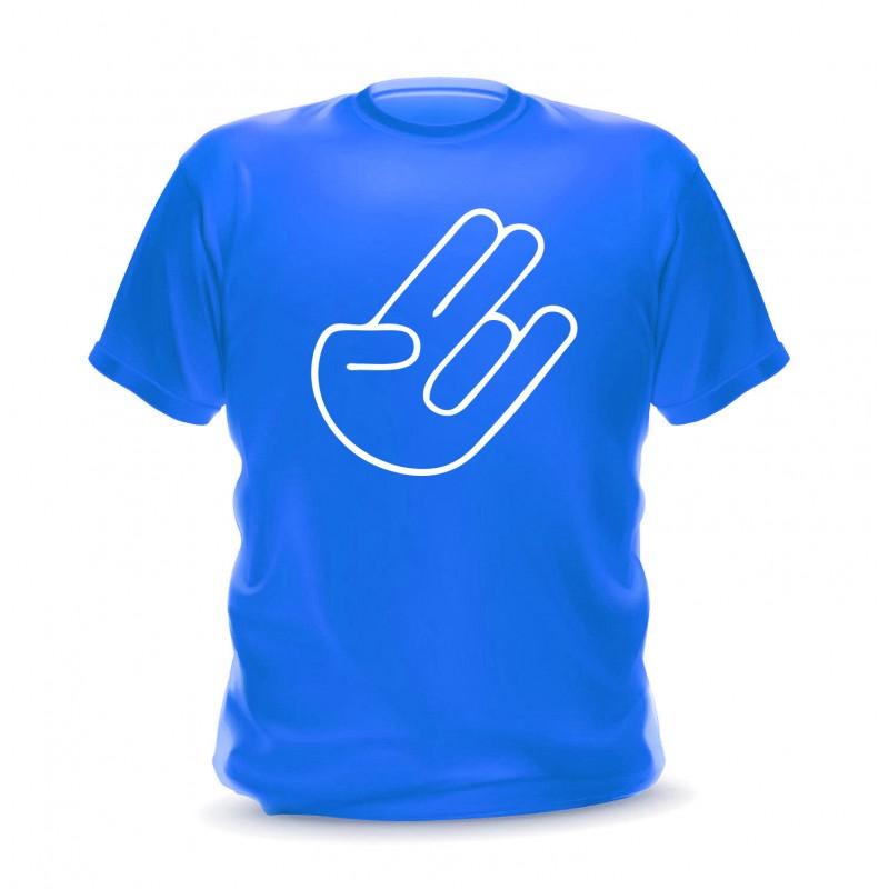 T-shirt bleu shocker hand pour homme