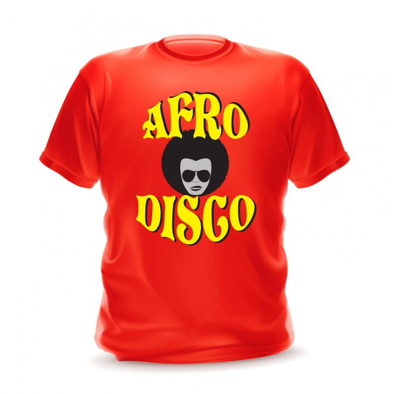 T-shirt rouge pour homme afro disco