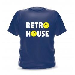 T-shirt navy retro house