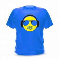 t-shirt bleu smiley