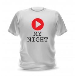 t-shirt blanc avec logo musique