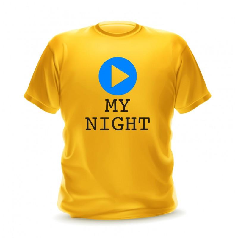 Tshirt jaune pour homme musique