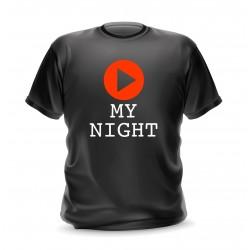 T-shirt homme noir avec logo play
