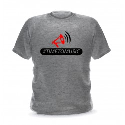 T-shirt pour homme gris chiné avec logo Time to music