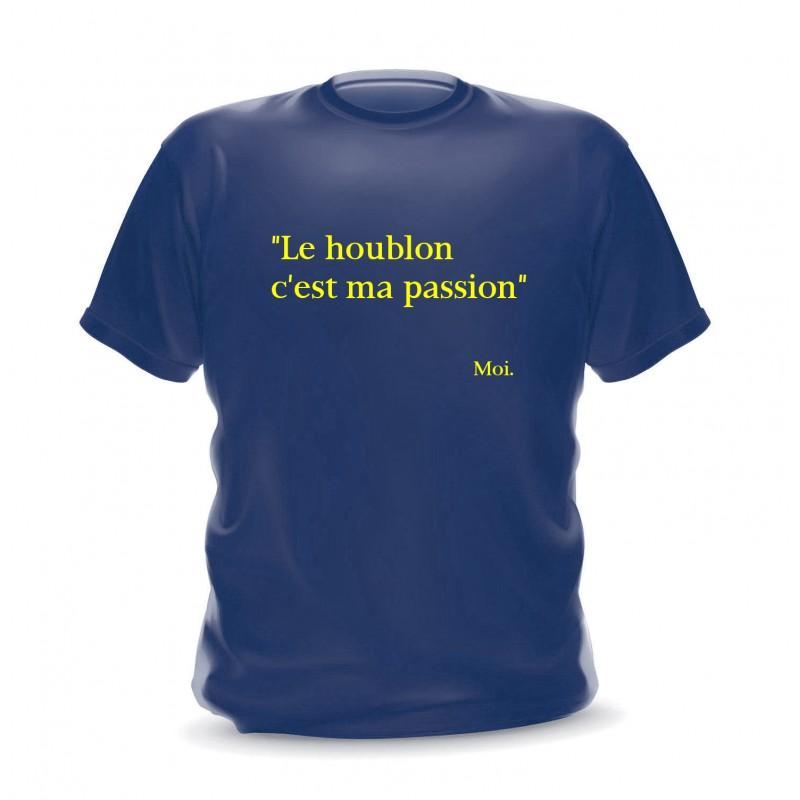"""T-shirt homme navy citation """"Le houblon c'est ma passion"""""""