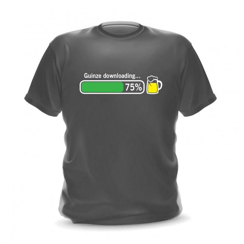 T-shirt gris foncé homme guinze downloading