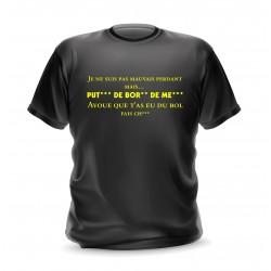 T-shirt noir homme phrase Je ne suis pas un mauvais perdant mais ...