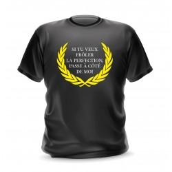 T-shirt noir homme imprimé frôler la perfection