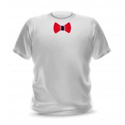 T-shirt blanc homme imprimé noeud papillon