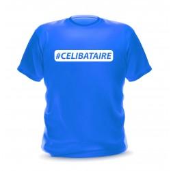 T-shirt Bleu roi homme imprimé Hashtag célibataire