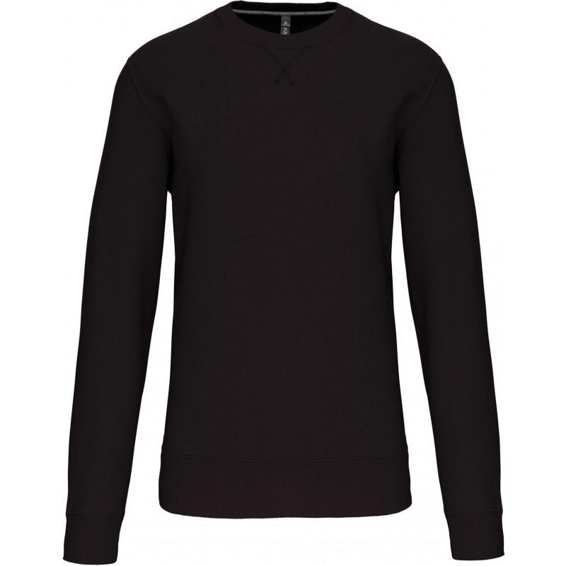 Sweat-shirt dark grey col rond unisexe