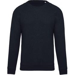 Sweat-shirt navy BIO col rond manches raglan homme