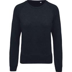 Sweat-shirt Navy BIO col rond manches raglan femme