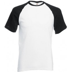 T-shirt blanc/noir baseball valueweight