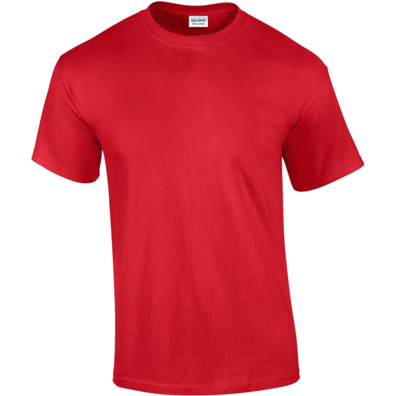 T-shirt manches courtes Ultra Cotton rouge pour homme