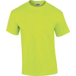 T-shirt manches courtes Ultra Cotton jaune fluo pour homme