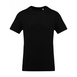 T-Shirt col rond manches courtes noir pour homme