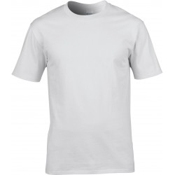 T-shirt homme col rond premium blanc