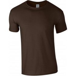 T-shirt homme col rond softstyle brun