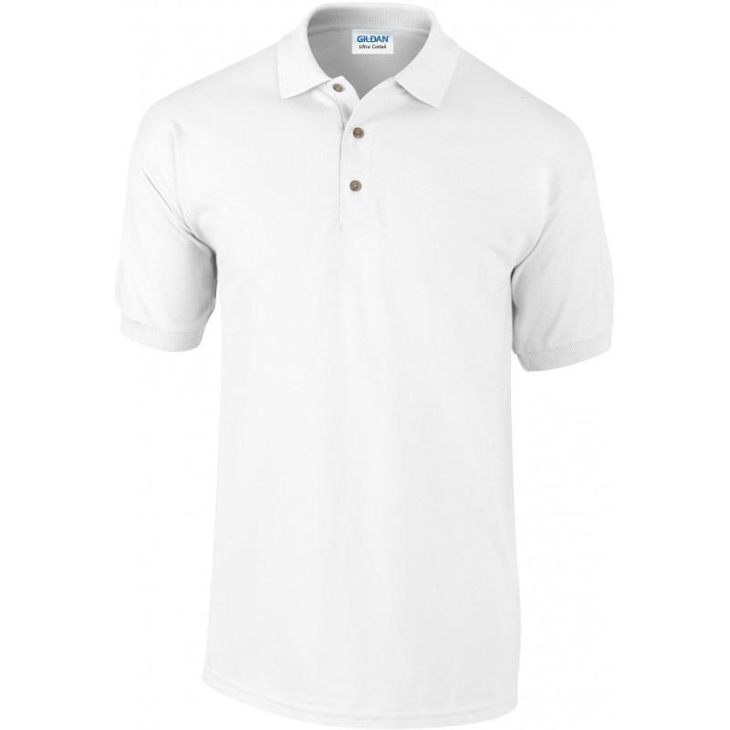 Polo manches courtes Ultra cotton blanc pour homme