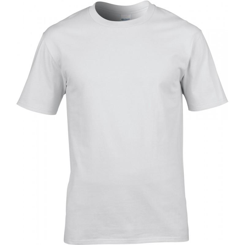 t-shirt col rond pour homme blanc
