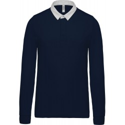 Polo rugby navy/white pour homme