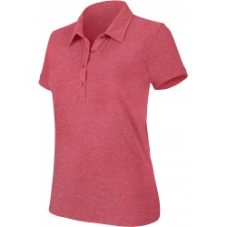 "Polo manches courtes ""mélange"" femme rouge heater"