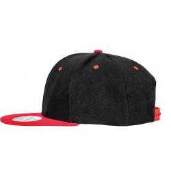 Casquette Bronx bicolore noir et rouge
