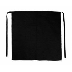 Berlin Long Bistro Apron with Vent and Pocket  noir