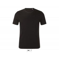 Tee-shirt noir col rond homme
