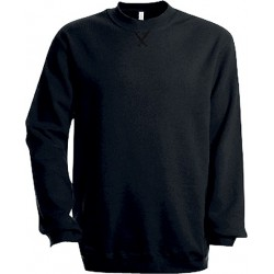 sweat noir col rond