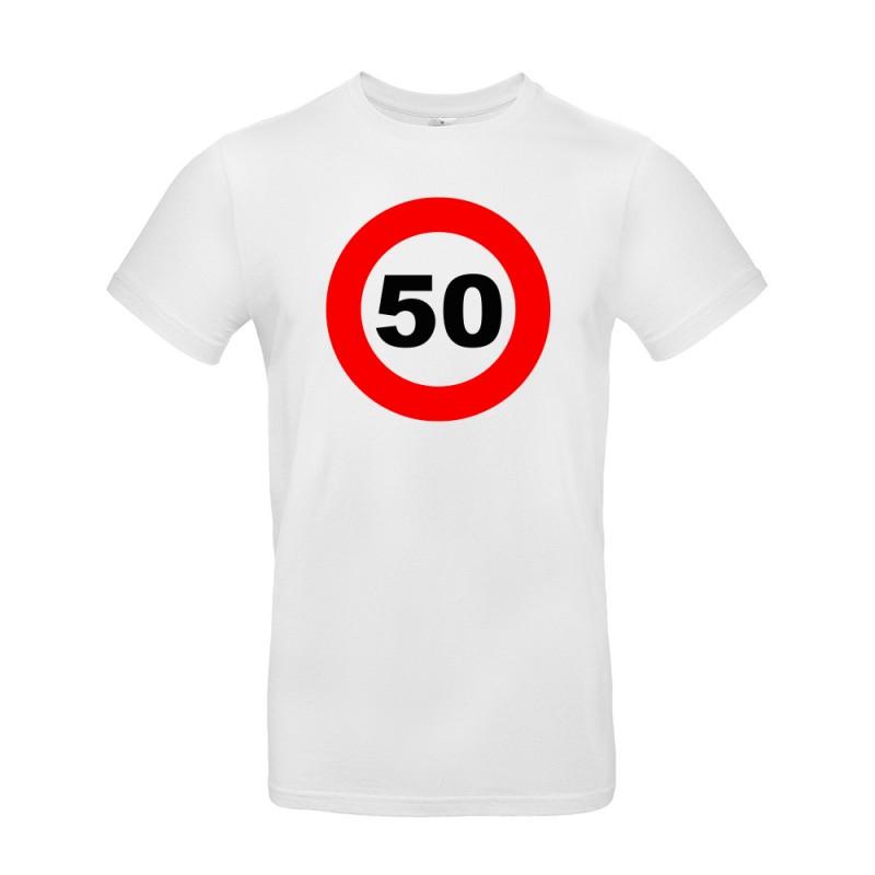 t-shirt personnalisable pour anniversaire panneau blanc