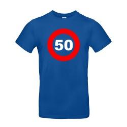 t-shirt personnalisable pour anniversaire panneau bleu roi