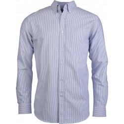 Chemise oxford lignée pour homme
