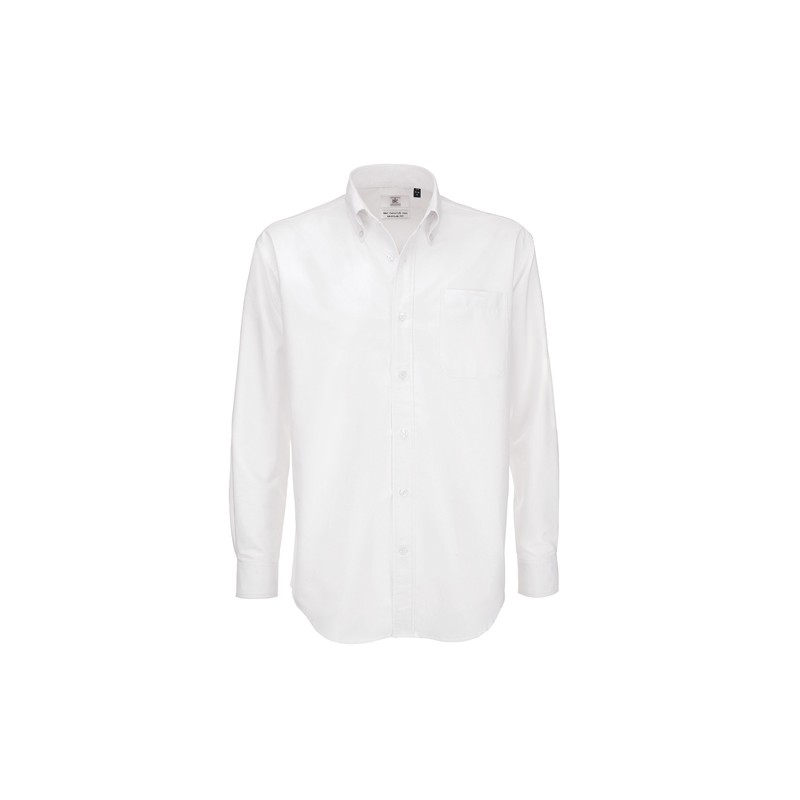 chemise grande taille pour homme blanche