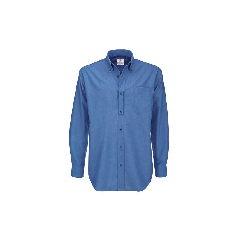 chemise grande taille pour homme bleue