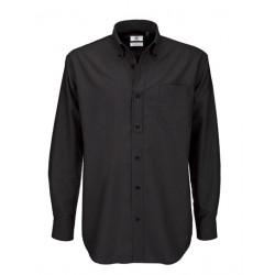 chemise grande taille pour homme noire
