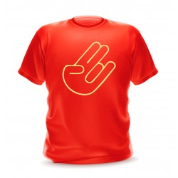 T-shirt rouge shocker hand pour homme